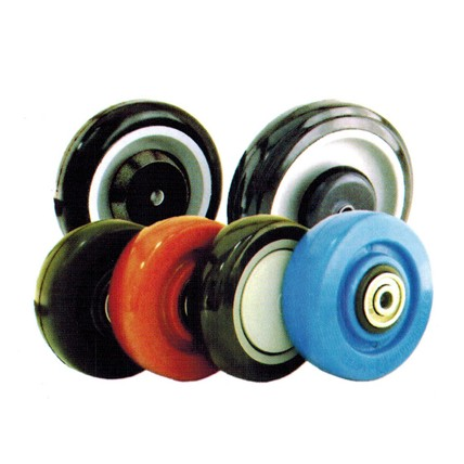 PB - Polyurethane Tread Plastic Core With Ball Bearing Wheels
