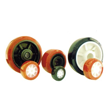 PU - Polyurethane Tread Plastic Core Wheels