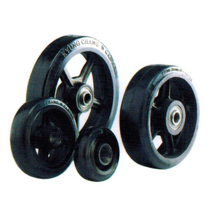 RC - Rubber Tread Cast Iron Core Wheels