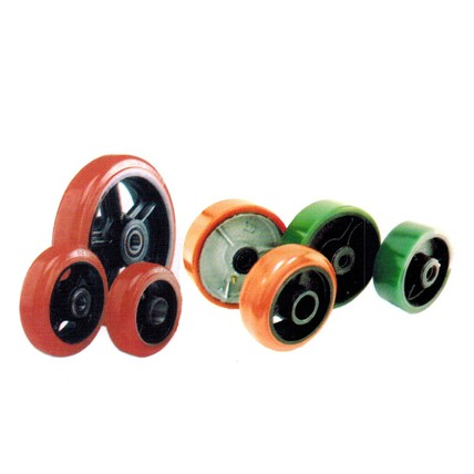 PC - Polyurethane Tread Cast Iron Core Wheels