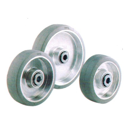 RA - Grey Rubber Tread Aluminum Core Wheels